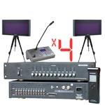 Конференц-система в сборе Simultaneous Translation Wireless 4ch 20KIT