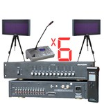Конференц-система в сборе Simultaneous Translation Wireless 6ch 20KIT